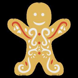 Gingerbread cookie man flat