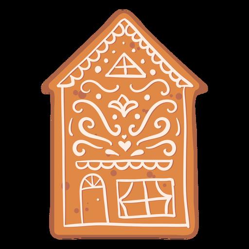 Crema de galletas de jengibre casa plana