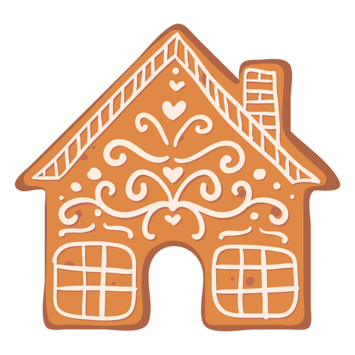 Galleta de la casa de jengibre plana