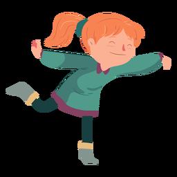 Chica bailando plana