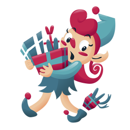 Girl elf christmas character