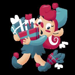 Personaje de navidad de niña elfo