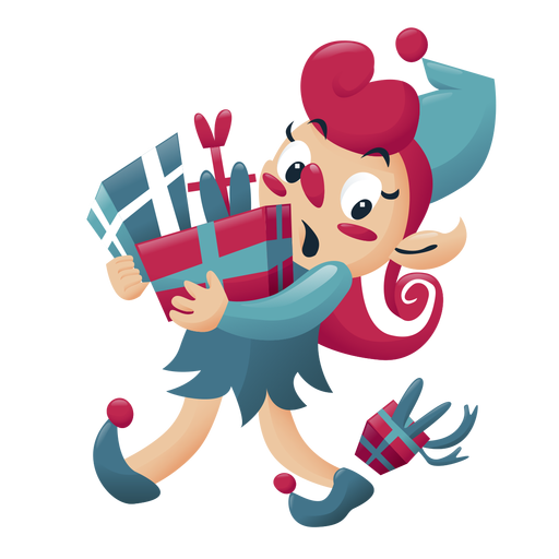 Girl elf christmas character Transparent PNG
