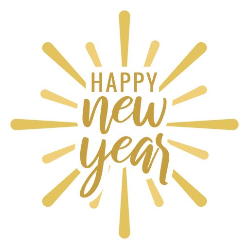 Happy new year badge badge sticker Transparent PNG