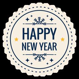 Feliz ano novo adesivo estrela distintivo