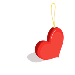 Anillo del corazón isométrico