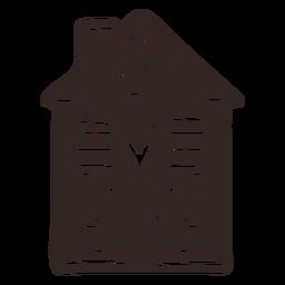 Casa biscoito de gengibre detalhada silhueta