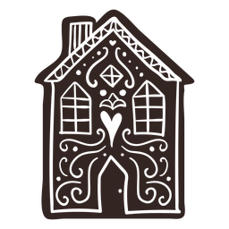 House cookie gingerbread detailed silhouette