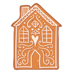 House cookie gingerbread flat