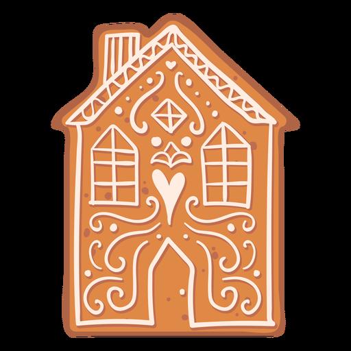 Galleta de la casa de pan de jengibre plana