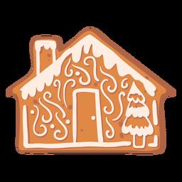 Galleta de jengibre de abeto de la casa plana