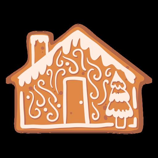 House fir gingerbread cookie flat