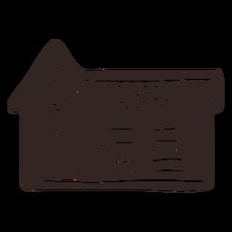 Silueta detallada de galleta de jengibre de la casa