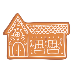 House gingerbread cookie flat