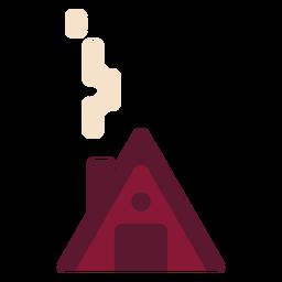 Casa cabaña plana