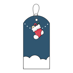Label sock stocking badge sticker