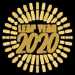 Insignia del año bisiesto 2020