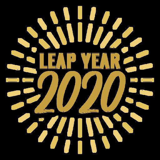 Etiqueta engomada de la insignia del año bisiesto 2020