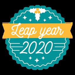 Leap year 2020 ribbon badge sticker