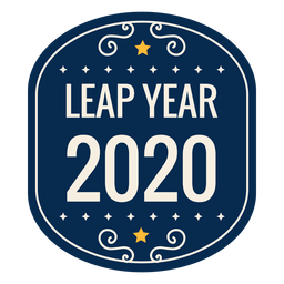 Leap year 2020 star badge sticker