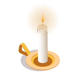 Light candle isometric