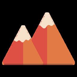 Pico da montanha plano