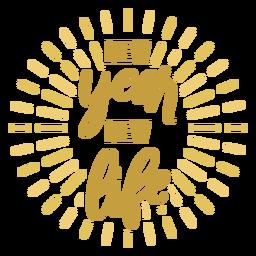 Insignia de año nuevo Insignia de vida nueva