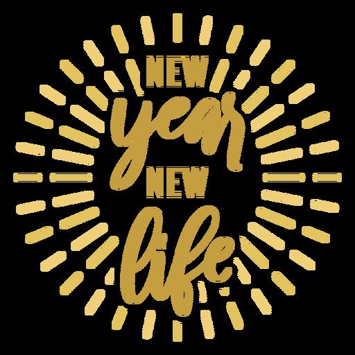 Insignia de año nuevo etiqueta de la insignia de nueva vida