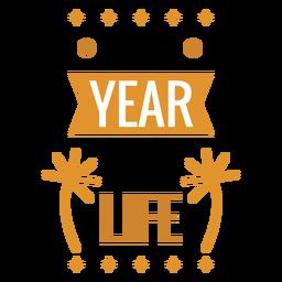 Insignia de año nuevo etiqueta engomada de la insignia de fuegos artificiales de nueva vida