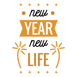New year badge new life firework badge sticker