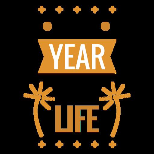 New year badge new life firework badge sticker