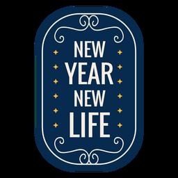 Insignia de año nuevo etiqueta engomada de la insignia de la estrella