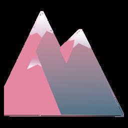 Pico da montanha plana