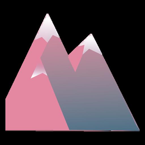 Pico de montaña plana