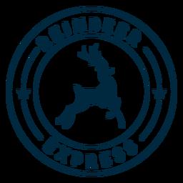 Etiqueta engomada de la insignia del expreso del reno