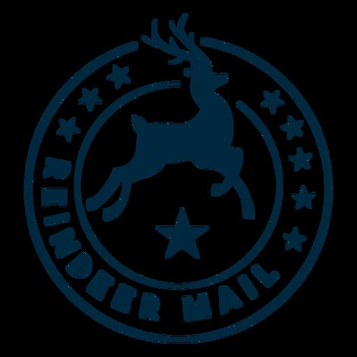 Reindeer mail badge sticker Transparent PNG