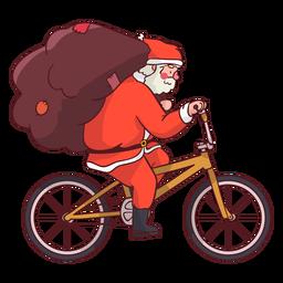 Bicicleta de saco de Papai Noel plana