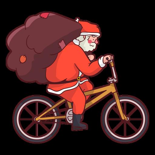 Santa claus sack bicycle flat