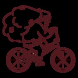 Saco de santa claus bicicleta golpe