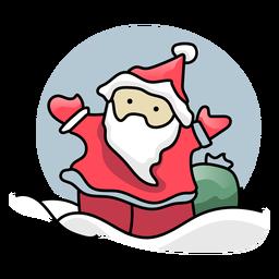 Saco de Papá Noel plano