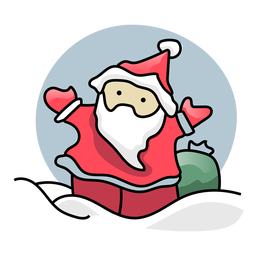 Santa claus sack flat