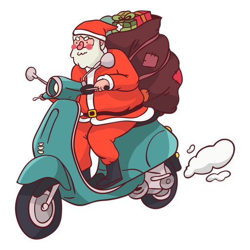 Papai Noel saco moto apartamento