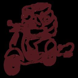 Golpe de motocicleta de saco de santa claus