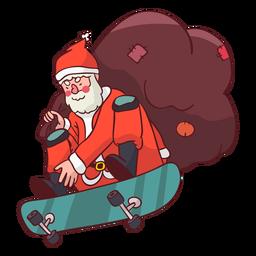 Papai Noel saco de skate plano