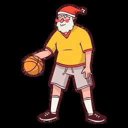 Bola de desportista de Papai Noel plana