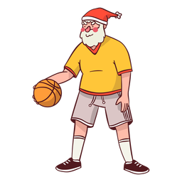Santa claus sportsman ball flat