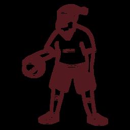Santa claus sportsman ball stroke