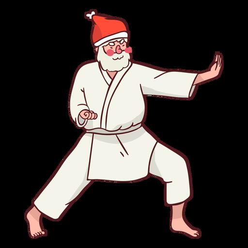 Plano de kimono de deportista de santa claus