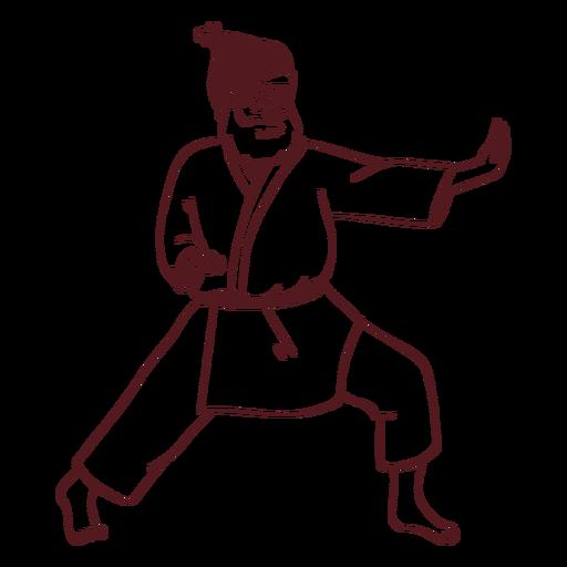 Santa claus sportsman kimono stroke