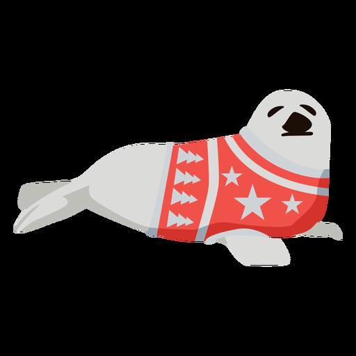 Seal flat xmas Transparent PNG